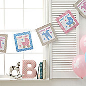 Tiny Feet Baby Shower Paper Bunting - 3.5m
