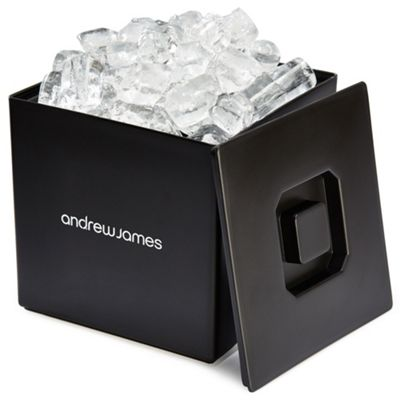 Andrew James Square Ice Bucket in Black