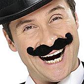 Smiffy's - Music Hall Moustache - Black