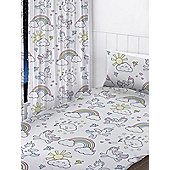 Pastel Unicorns Curtains - White