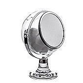 Showerdrape Serene Cotton Ball Holder Clear Acrylic Vanity Make-Up Mirror