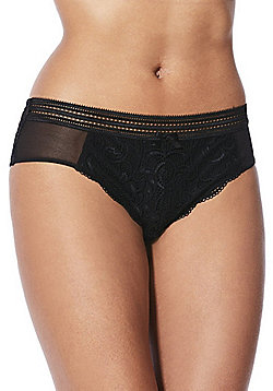F&F Signature Rae Lace Brazilian Briefs - Black