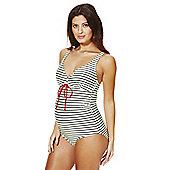 Mamalicious Striped Multiway Strap Maternity Swimsuit - Multi