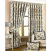 Riva Home Berkshire Eyelet Curtains - Black