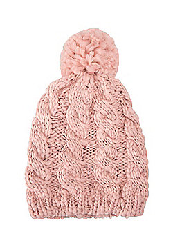Mountain Warehouse Tahoe Cable Knit Beanie - Pink