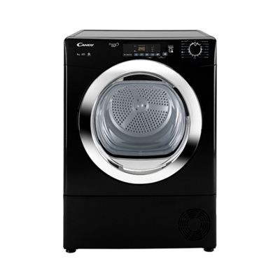 Candy Condenser Tumble Dryer GVS C9DCGB - Black with Chrome Door