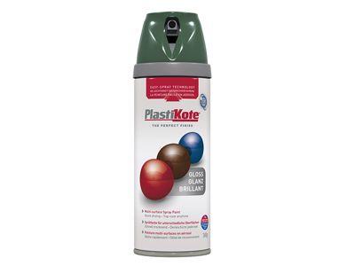 Plasti-kote Twist & Spray Gloss Luscious Green 400ml