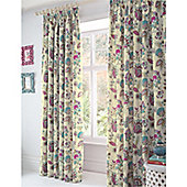 Dreams n Drapes Marinelli Teal Lined curtains - 168x183cm