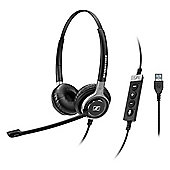 Sennheiser Century SC 660 USB ML Wired Stereo Headset - Over-the-head - Circumaural - Black, Silver
