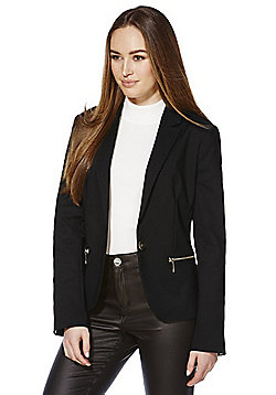 F&F Zip Pocket Tailored Jacket - Black