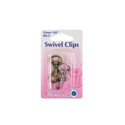 Hemline Swivel Clip 13mm Bronze and Silver