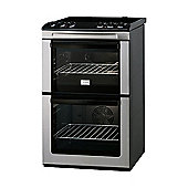 Zanussi ZCV551MXC 550mm Electric Cooker with Double Oven with Thermaflow