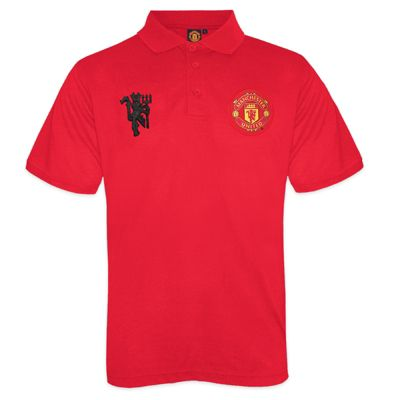 Manchester United FC Boys Polo Shirt Red 8-9 Years MB