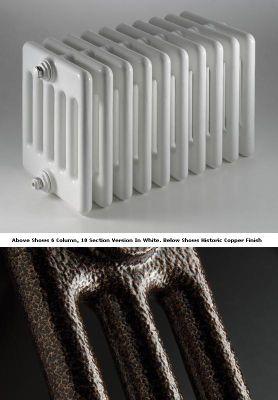 DQ Heating Peta 2 Column Designer Radiator - 592mm High x 2070mm Wide - 46 Sections - Historic Copper
