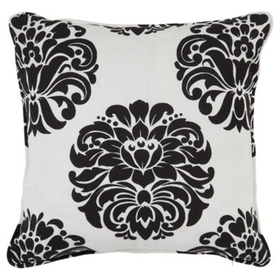Tesco Nouveau Cushion Black/White