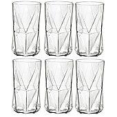 Bormioli Rocco Cassiopea Tumblers Glasses - 480ml - 16.25oz - Set of 6