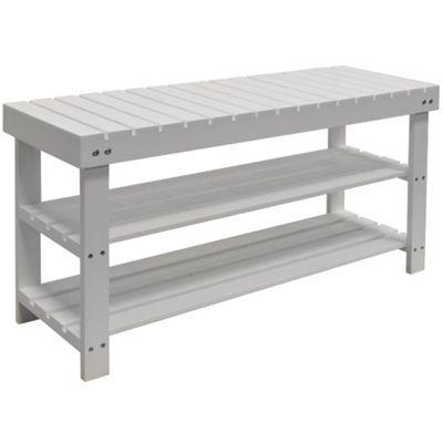 buy solid wood 3 shelf 12 pair shoe storage rack white. Black Bedroom Furniture Sets. Home Design Ideas