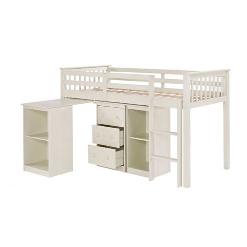 Rustic Retreat Milo Mid Sleeper Sleep Station Bunk Bed - Solid Off - White