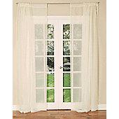 Slot Top Single Voile Curtain Panel