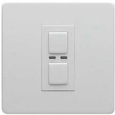 Megaman LightwaveRF 250W 1 Gang Dimmer (White)