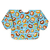Bumkins Sleeved Bib, Blue Owl