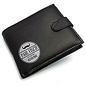 PERSONALISED LEATHER WALLET - MOUSTACHE