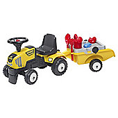 Falk Tractor And Trailer with sand toys Ride on
