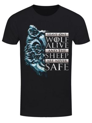 Leave One Wolf Alive Men's T-shirt, Black