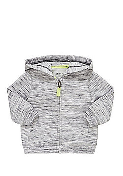 F&F Space Dye Zip-Through Hoodie - Grey