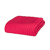 Catherine Lansfield Chunky Knit Throw - Red