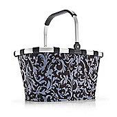 Reisenthel Foldable Carry Shopping Bag in Baroque Navy Blue BK4001