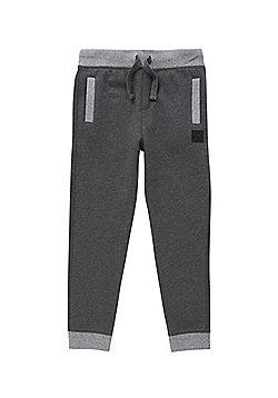 F&F Contrast Waistband Drawstring Joggers - Grey