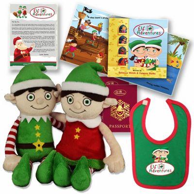 Elf Adventures - Boy & Girl Elf Baby & Toddler Book & Plush Toy Christmas Gift Set