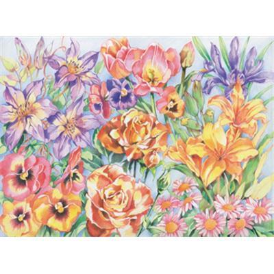 Pencil By Num - Floral Montage