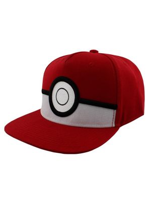 Pokemon 3D Pokeball Red Snapback Cap
