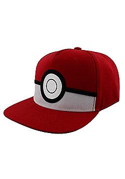 Pokemon 3D Pokeball Red Snapback Cap - Red