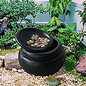 Peaktop Outdoor Garden Waterfall Water Pump Fountain Water Feature FI0031AA-UK