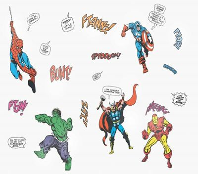 Marvel Comics, Super Hero Pack of 21 Stickers
