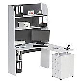 Maja 4022 3967 Mini Office Desk - Icy White/Grey