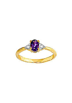 QP Jewellers Diamond & Amethyst Allure Ring in 14K Gold