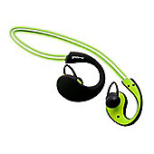 Groov-e GVBT800GN Wireless Sports Earphones with LED Neckband - Green