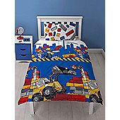 Lego City Demolition Single Duvet Cover and Pillowcase Set Reversible