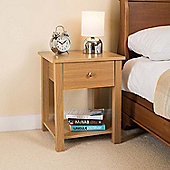 Christow Wooden 1 Drawer Nightstand (Oak)