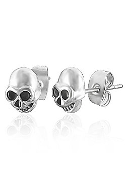 Urban Male Men's Earrings In Stainless Steel Skull Design 7mm