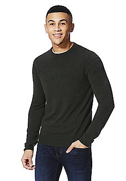 F&F Crew Neck Jumper - Forest green