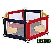 Tikk Tokk Pokano Fabric Playpen - Hexagonal - Colourful