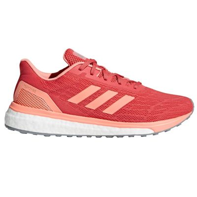 adidas Response Womens Neutral Running Trainer Shoe Coral/Pink - UK 8