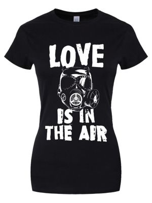 Love Is In The Air Women's T-shirt, Black.