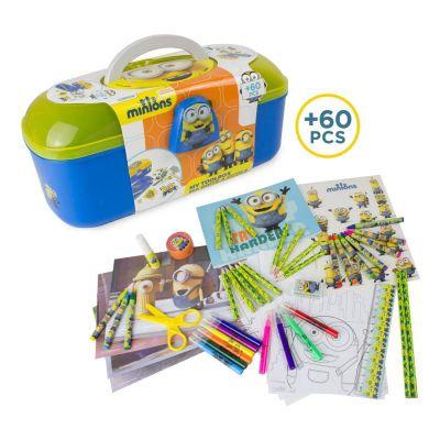 Minions Tool Box With 60 Piece Creative Activity Set (cmin013) - Educational