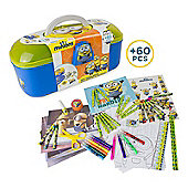 Minions Tool Box With 60 Piece Creative Activity Set (cmin013) - Educational